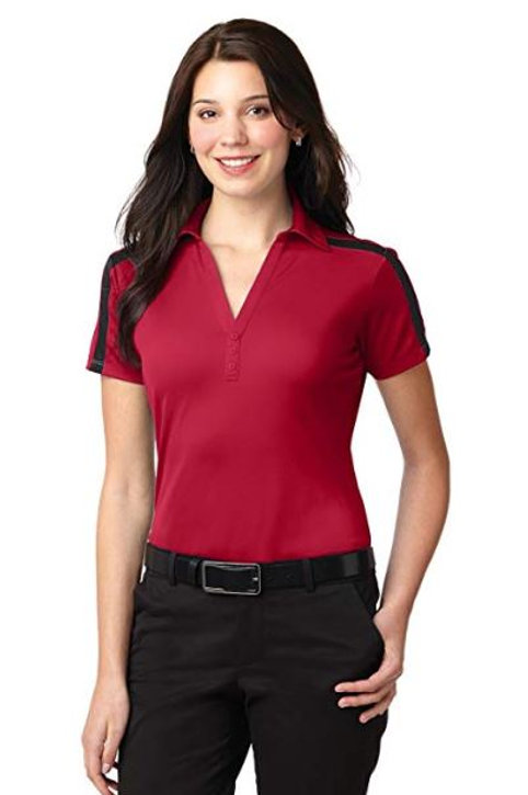 Port Authority Silk Touch Performance Colorblock Stripe Polos L547