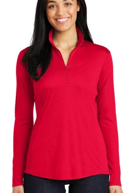 Ladies Spot-TEK Posicharge Competitor 1/4-Zip Pullovers LST357