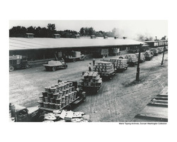 Trucks at United platform