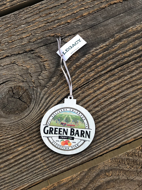 Green Barn Fruit Co. Wooden Ornament