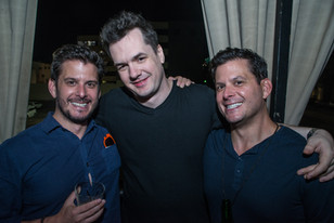 Jim Jeffries with Mike and Tim Duffy
