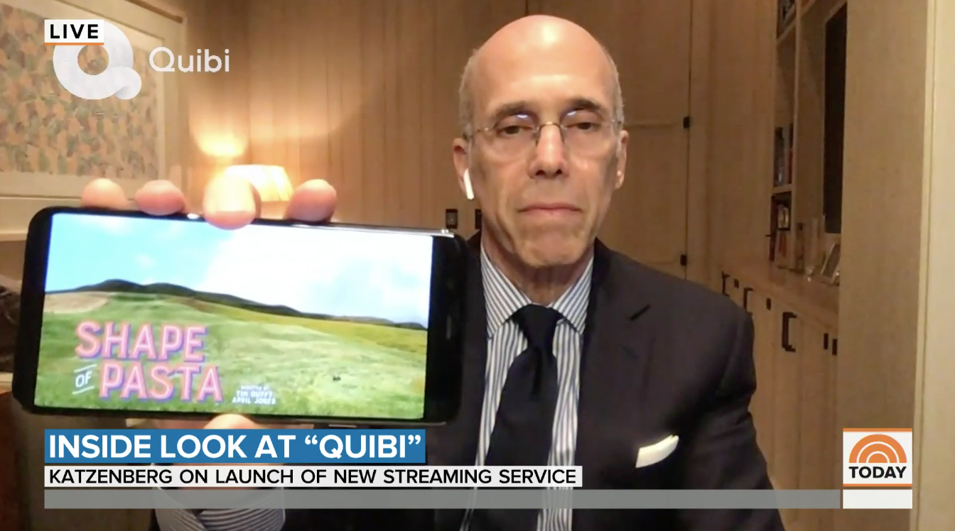 Quibi founder Jeffrey Katzenberg talks about new streaming service for phones