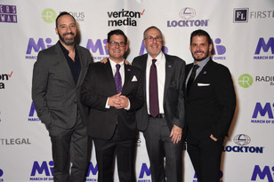 Tony Hale with the Chairs of March of Dimes Signature Chefs Auction 2019