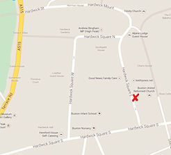map showing Buxton URC