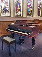 Broadwood grand piano at Buxton URC