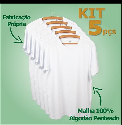KIT c/ 5 Camisetas - Manga Curta   Regular Fit