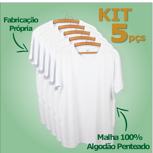 KIT c/ 5 Camisetas - Manga Curta | Regular Fit