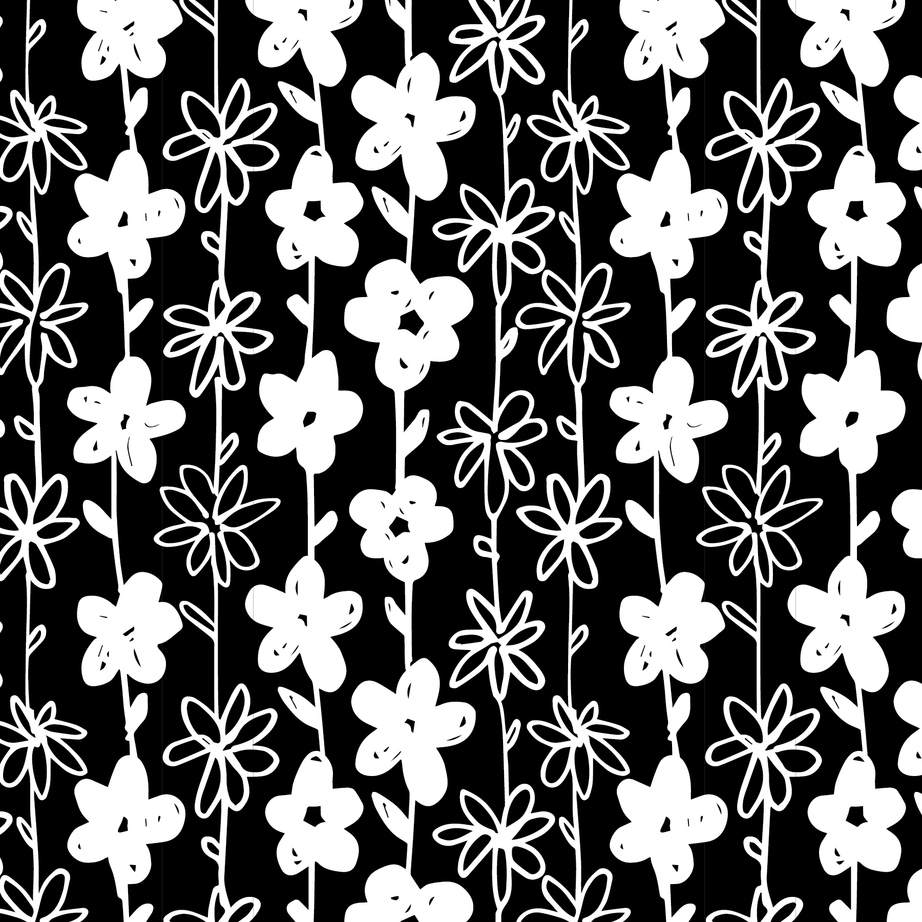 F&F print swatches_BW floral