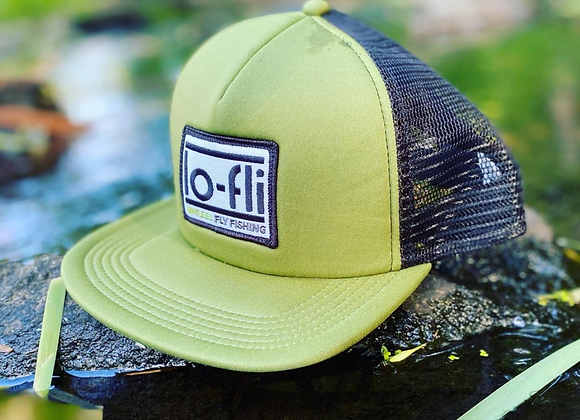 lo-fli Olive Green & Black Trucker Cap