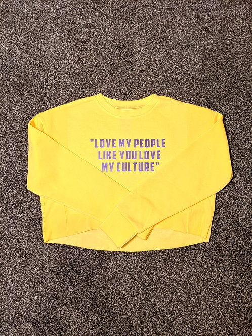 """Love My People..."" Women's Crop Sweatshirt"