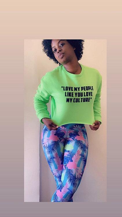 """""""Love My People..."""" Women's Crop Sweatshirt"""