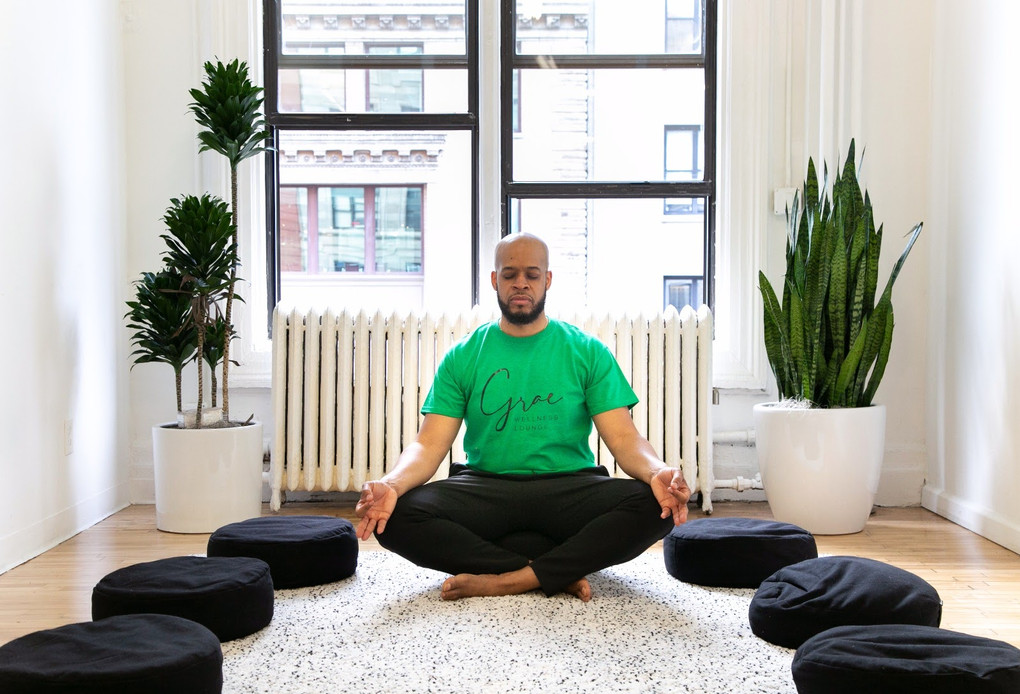 Tim Grae in Meditation Room