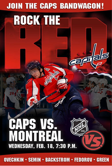 Washington Capitals Game Poster