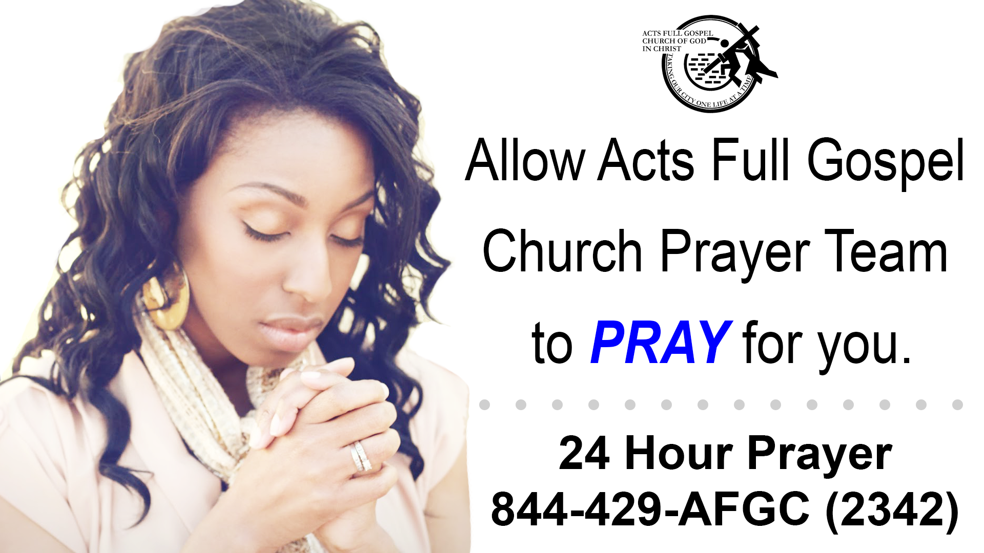 24 Hr Prayer Hotline