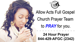 24 Hr Prayer Hotline