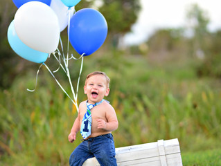 Grayson's First Birthday Session