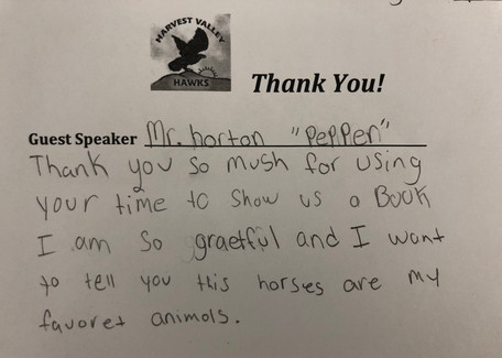 HVES Thank you Note