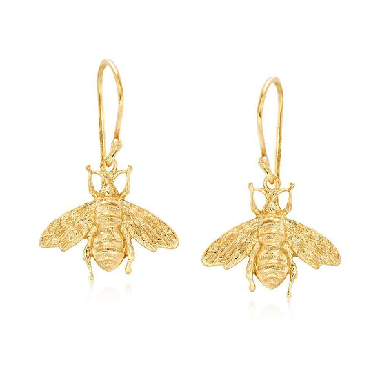 Bumble Bee Drop Earrings