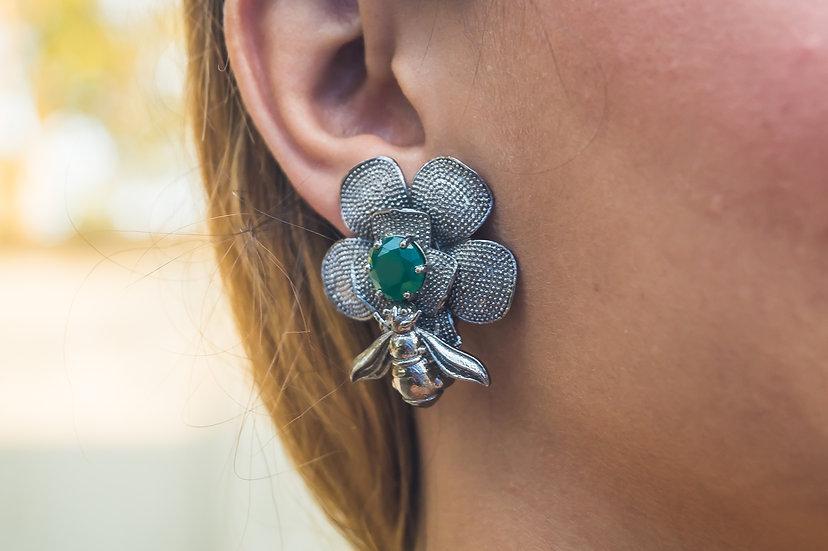 Black Bee Earrings