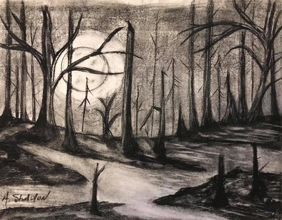 16 - Path of Light - Charcoal - 2019 - 8.5x11