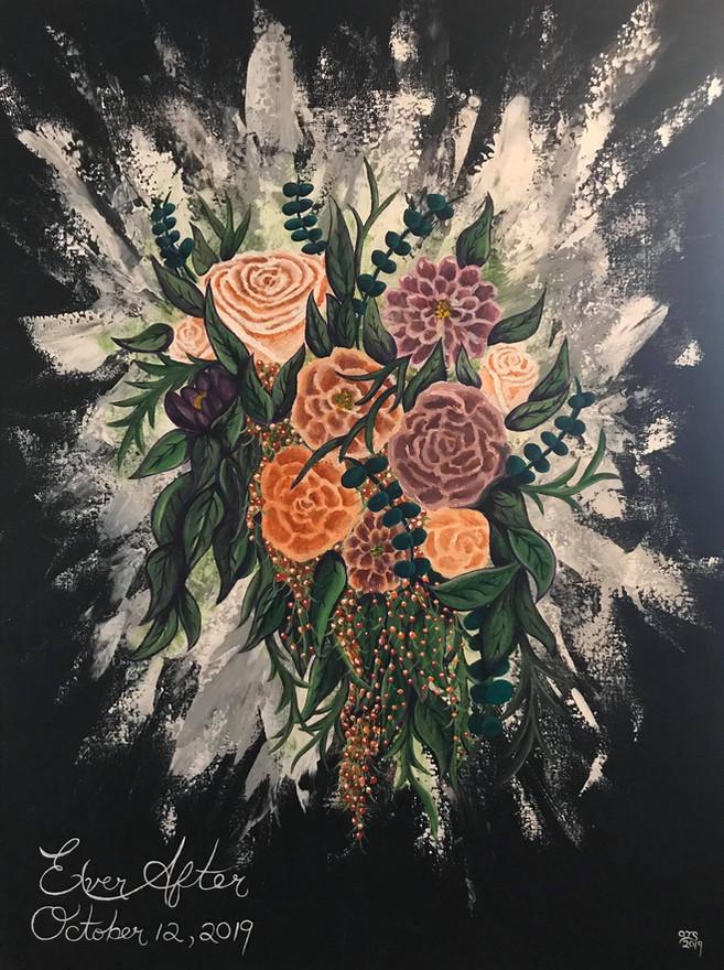 30 - Wedding Bouquet - Acrylic on Canvas - 2019 - 36x42