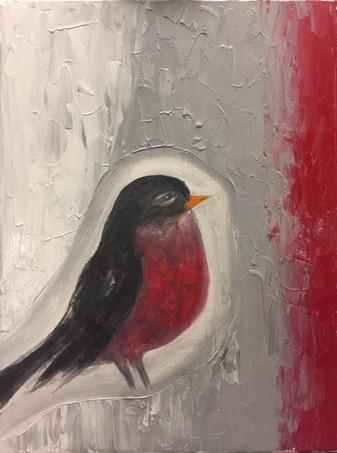 21 - The Robin - Acrylic on Canvas - 2018 - 9x12