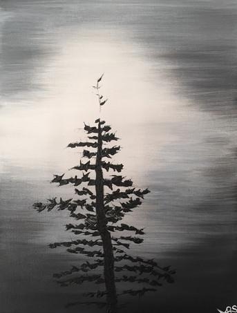 25 - Isolated - Acrylic on Canvas - 2018 - 9x12