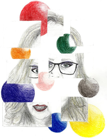 "11 - Expressive Self Portrait - Pastel Chalk - 2020 - 9""X12"""