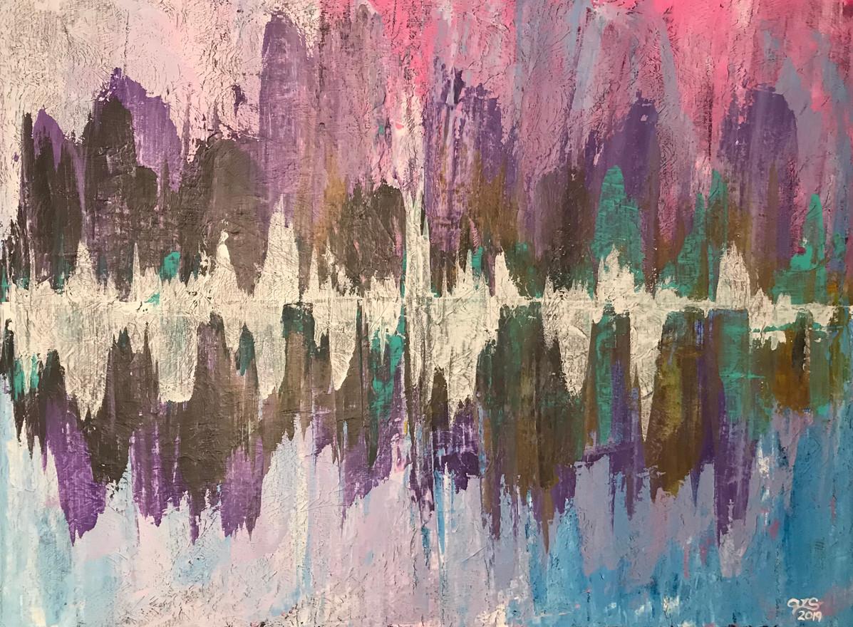 23 - Sound - Acrylic on Canvas - 2018 - 36x42
