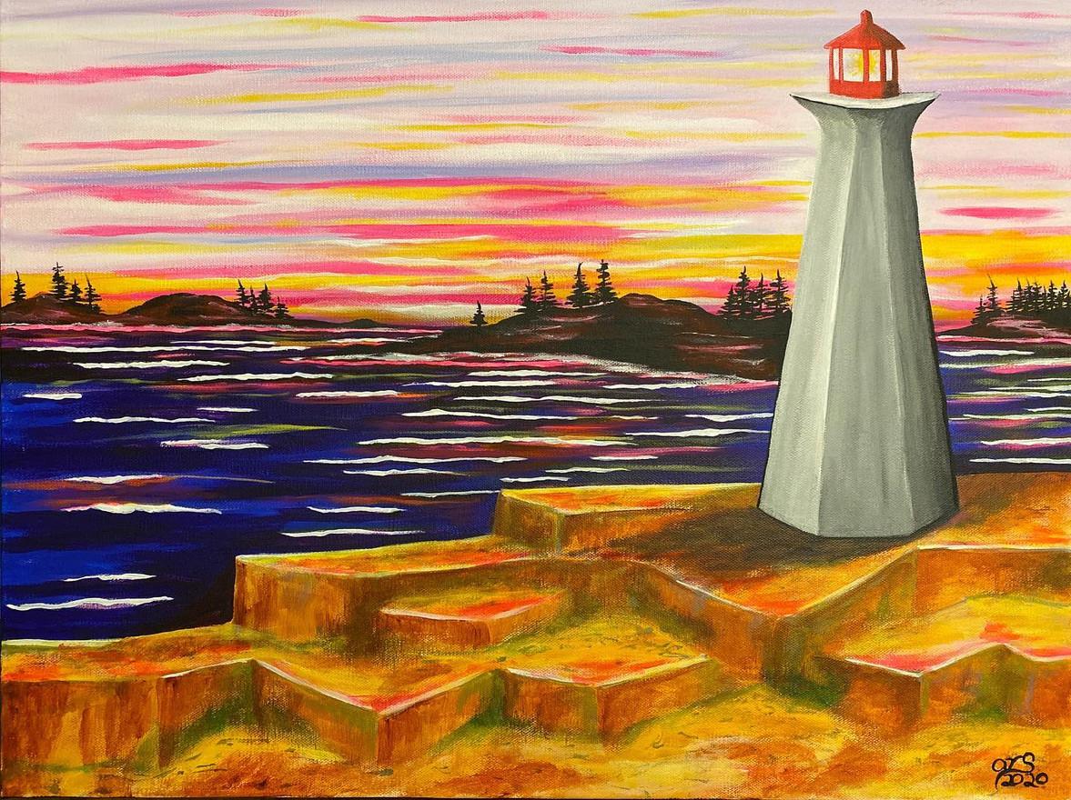 27 - Lighting The Way - Acrylic on Canvas - 2020 - 24x36