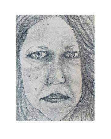 """07 - Self Portrait - Graphite - 2020 - 9""""X12"""""""