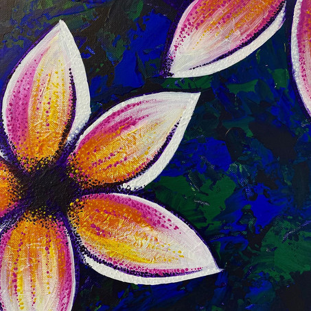 32 - Plumeria II - Acrylic on Canvas - 2020 - 9x12