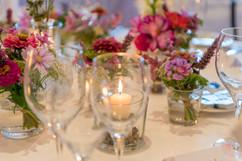 Tischdekoration mit Kerzen 1