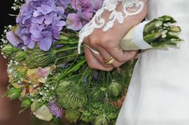 Brautstrauss farbig