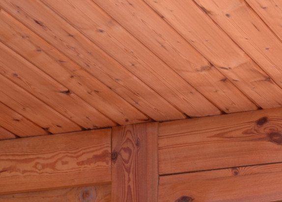 Drewniane ściany domów