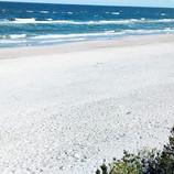 Jesienna plaża w Międzywodziu