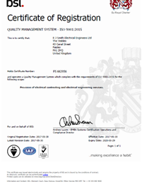 ISO 9001:2015 CERTIFICATION ANNOUNCEMENT