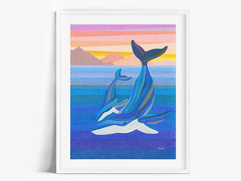 Humpback Whales - Limited Edition Print