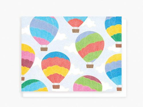 Hot Air Balloon - Greeting Card
