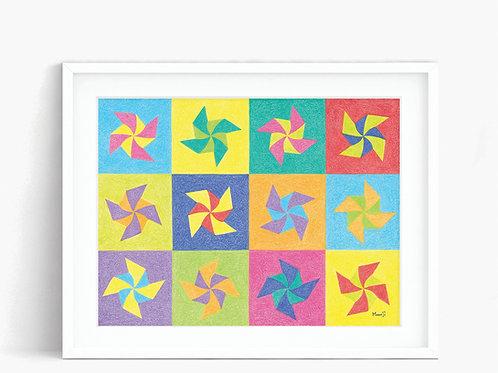 Pinwheel - Limited Edition Print