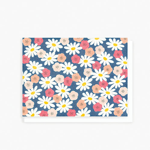 Daisies & Cherry Blossoms - Greeting Card