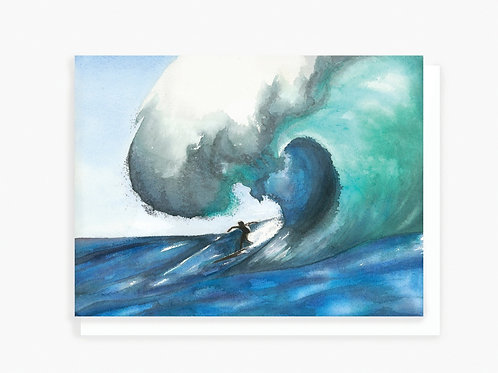 Surfing - Greeting Card