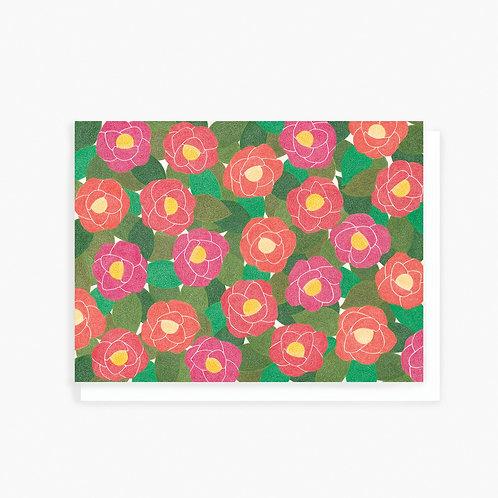Camellia - Greeting Card