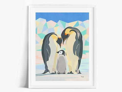 Emperor Penguins - Limited Edition Print