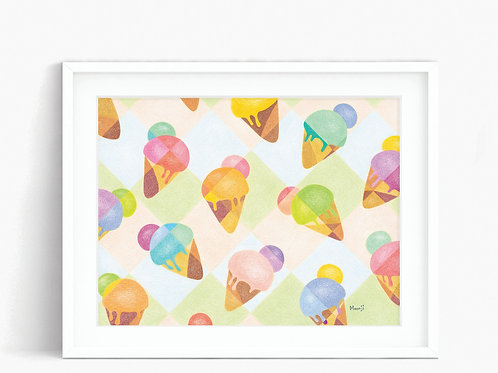 Ice Creams - Limited Edition Print