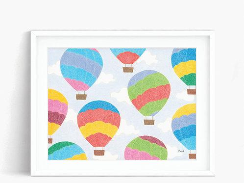 Hot Air Balloon - Limited Edition Print