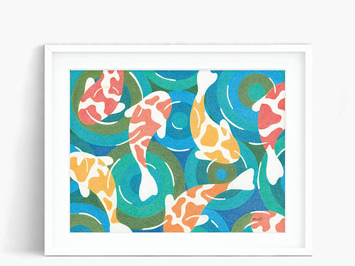 Koi Fish Pond - Limited Edition Print