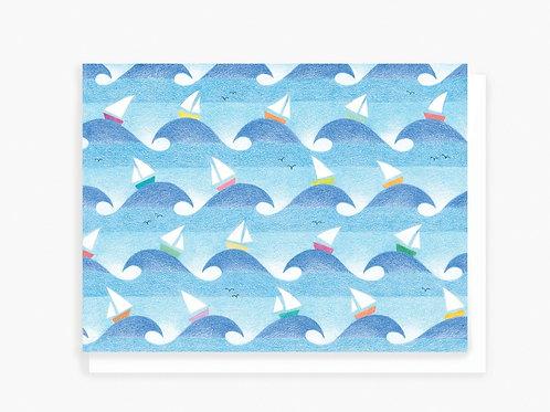 Sailboats - Greeting card