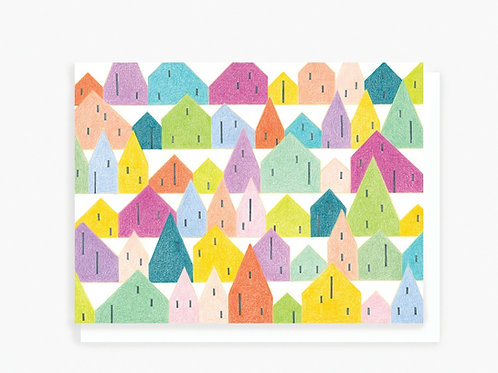 SF Row Houses - Greeting Card