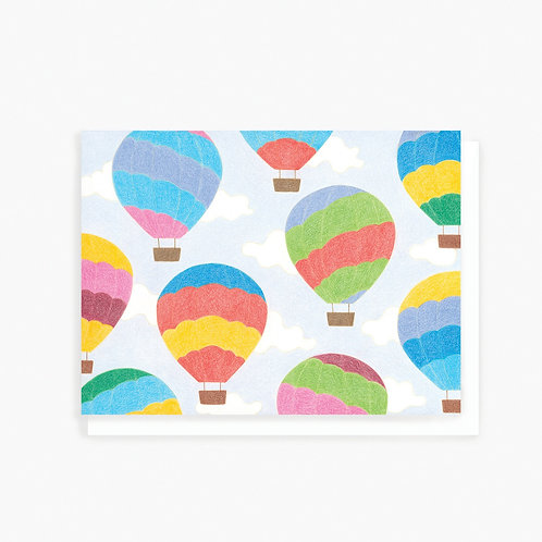 Hot Air Balloon - Greeting Card